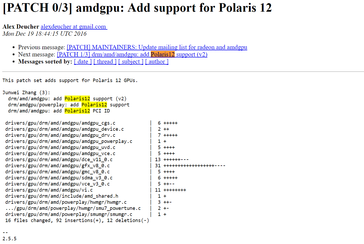 Polaris 12 entry in the Linux driver