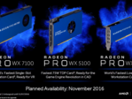 AMD's Radeon Pro WX series will be available for purchase November 10th and 18th. (Source: AMD)