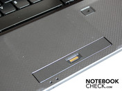 The touchpad has a pleasantly matt surface and a haptically delimited scroll bar.