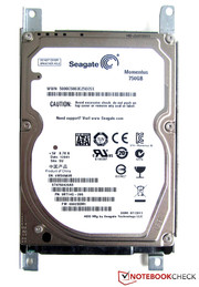 Fast rotating Seagate hard disk with a capacity of 750 GB