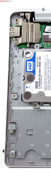 Compromise: The integrated hard drive is attached via USB and delivers poor transfer rates.