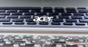 The Acer logo on the the display.