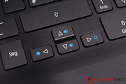 Racing game fans will have to get used to the very small arrow keys.