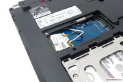 An mSATA SSD can be retrofitted in addition to the hard drive