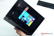 Acer Aspire Switch 12 portrait tablet.