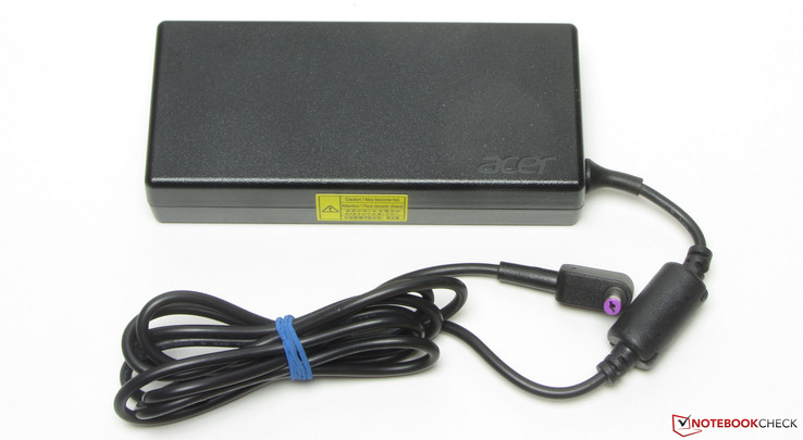 The power adapter is rated at 135 Watt.