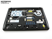 The innards are made up of the usual laptop components.
