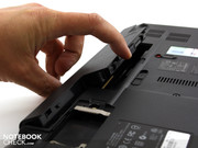 New design for Acer: the battery can be swung out,