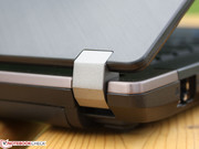 while the lid and wrist rest are made of brushed aluminum which catches fingerprints.