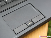 Recessed touchpad. Mouse buttons have long travel.