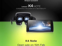 Lenovo boasts more than 1 million registrations for the K4 Note smartphone