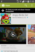 Angry Birds Go! is too demanding for LG's L40.