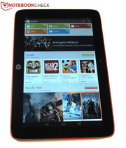 Due to its big display, the tablet can be controlled easily.