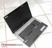 The Acer Aspire V3-771G-736B161TMaii features a Full HD display.