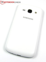 Plain: The plastic back of the Samsung Galaxy Ace 3.