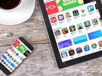 Apple App Store loaded on iPhone and iPad tablet