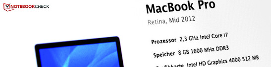 Review Apple MacBook Pro 15 Retina 2 3 GHz Mid 2012