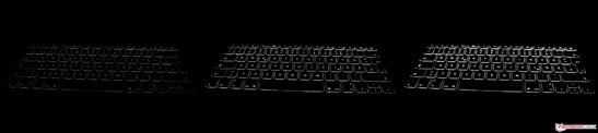 The keyboard backlight can be adjusted in 16 steps.