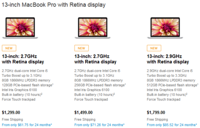 Buyers can choose a faster CPU, more storage or double the RAM