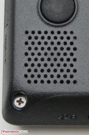 The speakers are at the bottom of the device.
