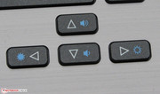 The function keys are clearly recognizable thanks to the blue color.