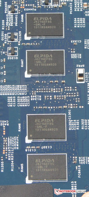 The RAM is soldered onto the board.