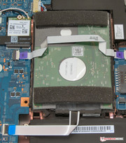 A conventional, 2.5-inch hard drive is also installed.