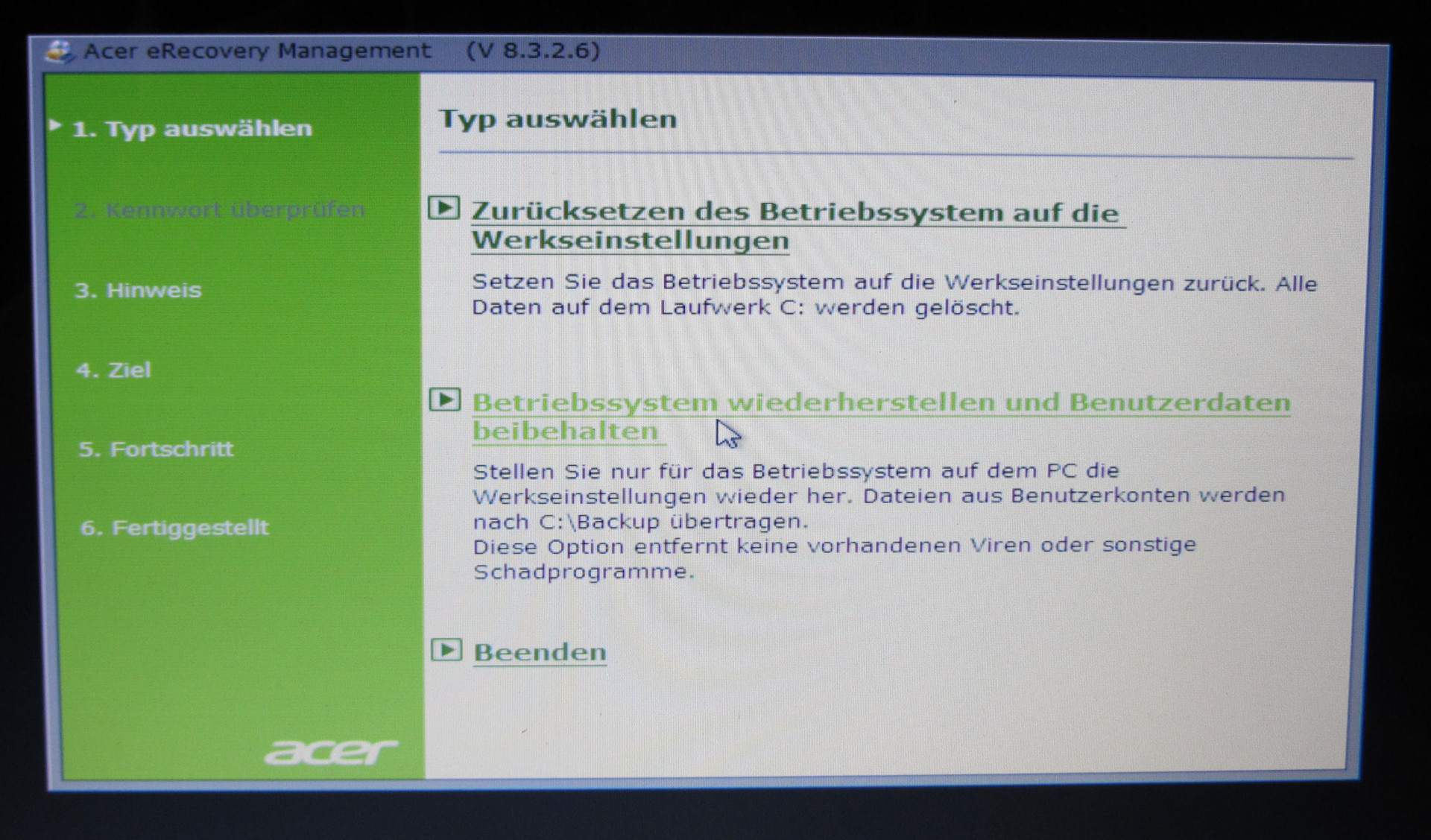 acer recovery windows 8 iso
