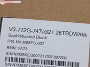 The manufacturer sent us the Acer Aspire V3-772G-747A321.26TBD.