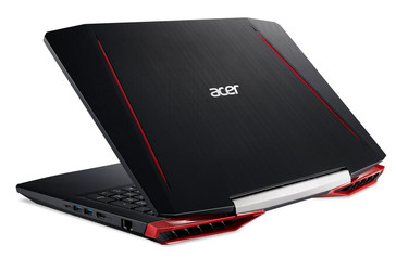 Aspire VX 15 VX5-591G rear left facing, gaming notebook with Kaby Lake and GeForce GTX 1050/1050 Ti