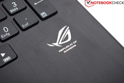 The ROG branding can once again be found on the palm rest.