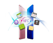 NFC for local data transfer is also available.