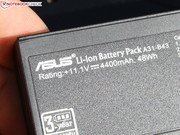 Asus offers a 3 year guarantee for the 48 Wh battery.