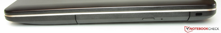 Right: DVD burner, lock slot