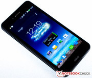 The smartphone display has a very high brightness, ...