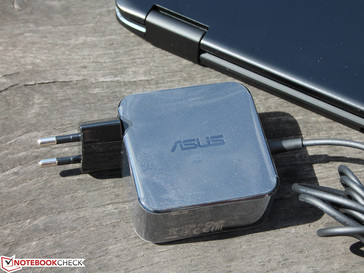 In form of a wall wart as usual for Asus