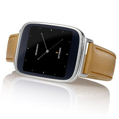 Asus ZenWatch smartwatch with Qualcomm Snapdragon 400 processor and 512 MB of memory