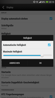 The automatic brightness control can be adjusted.