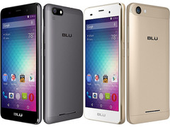 BLU Products X2 and M2 Android Marshmallow smartphones with metallic body