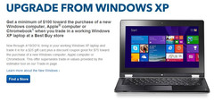 Best Buy Windows XP trade-in $100 USD coupon deal