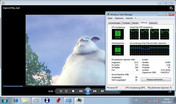 Big Buck Bunny 720p mp4 fluid CPU 70-95%