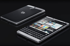 BlackBerry Passport Silver Edition QWERTY keyboard smartphone with square display
