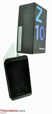 The BlackBerry Z10 smartphone...