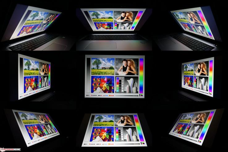 Viewing angles: HP ProBook 470 G4 Full HD UWVA panel