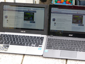 ASUS C200 and Acer C720 outdoors angle
