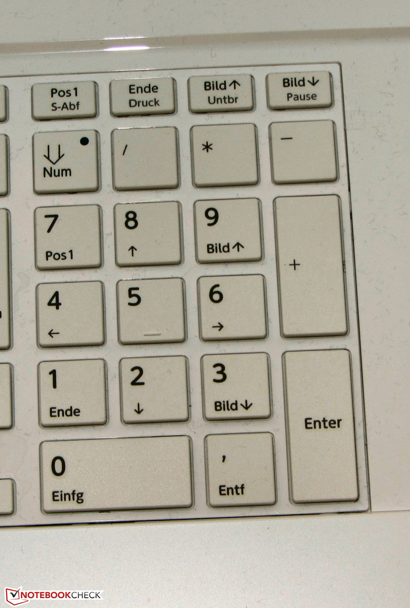 number pad is installed.