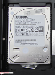 The hard drive can be switched out easily.