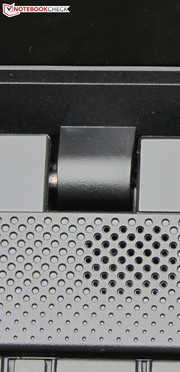 The hinges hold the lid tightly in position.