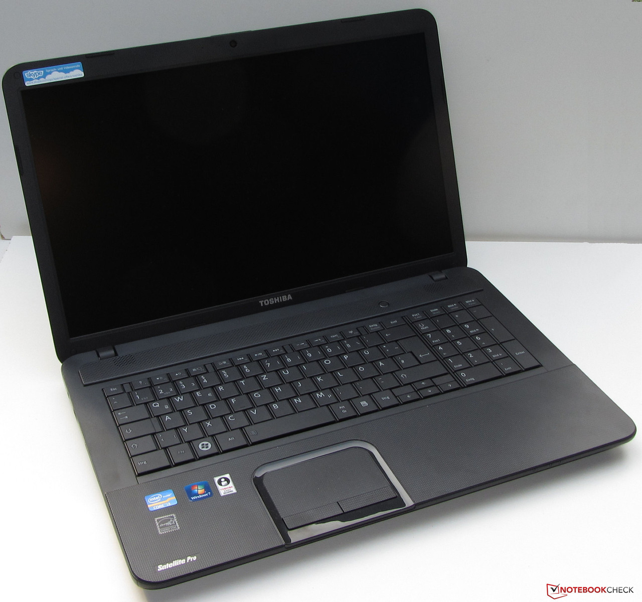 Review Toshiba Satellite Pro C870 Notebook Reviews G7 Wiring Diagram The Is Visually Modest And Sober