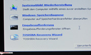 Toshiba integrated an easy entrance to the recovery system interface into the Windows 7 system repair functions.